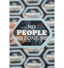 Amanda Weedmark No People Zone Vinyl Sticker