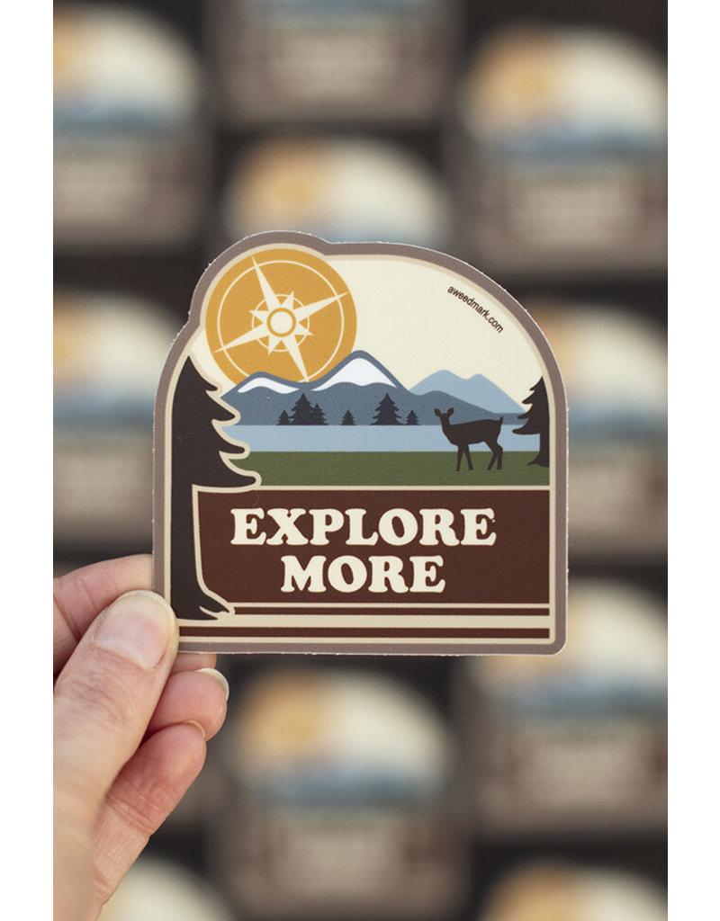 Amanda Weedmark Explore More Vinyl Sticker