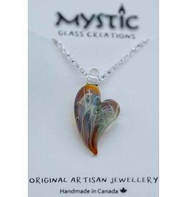 Mystic Glass Creations Heart Silverchain Necklace