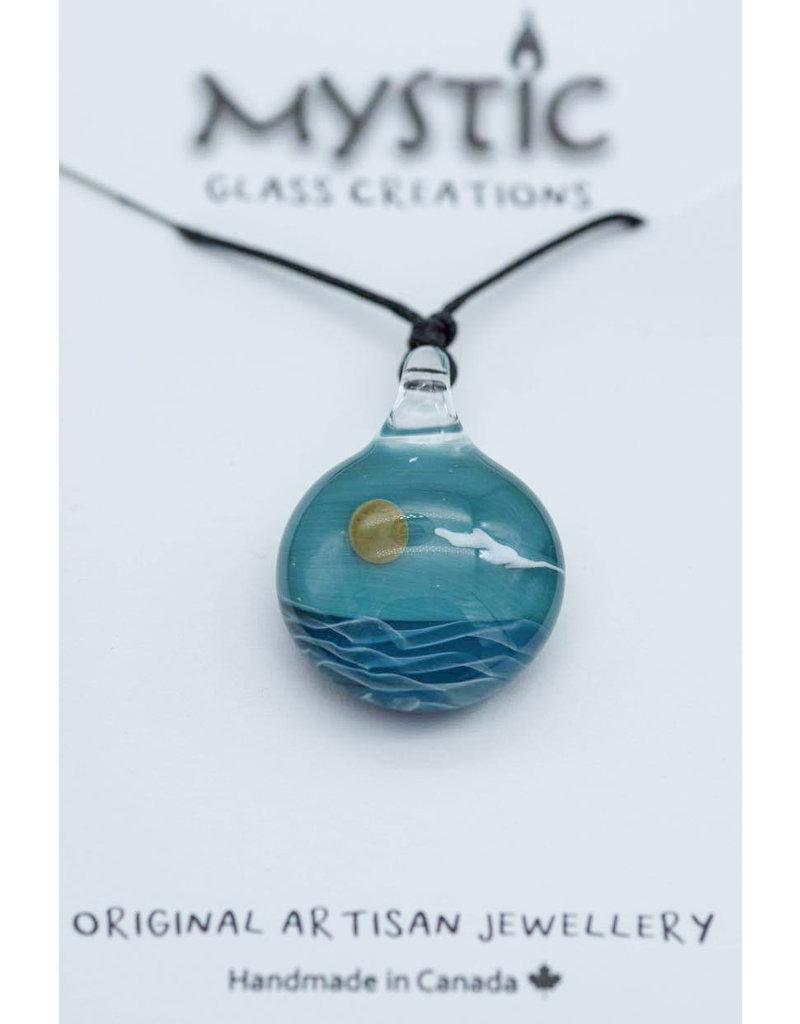 Mystic Glass Creations Ocean Day Pendant