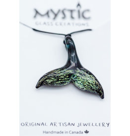 Mystic Glass Creations Disco Whale Tail Pendant