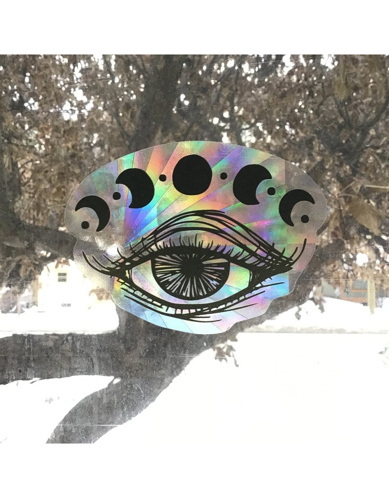 2humans1pooche Witchy Eye Moon Suncatcher