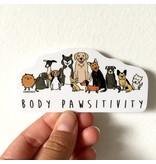 MELI.THELOVER Body Pawsitivity Sticker