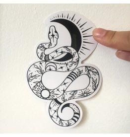 2humans1pooche Snake Sticker