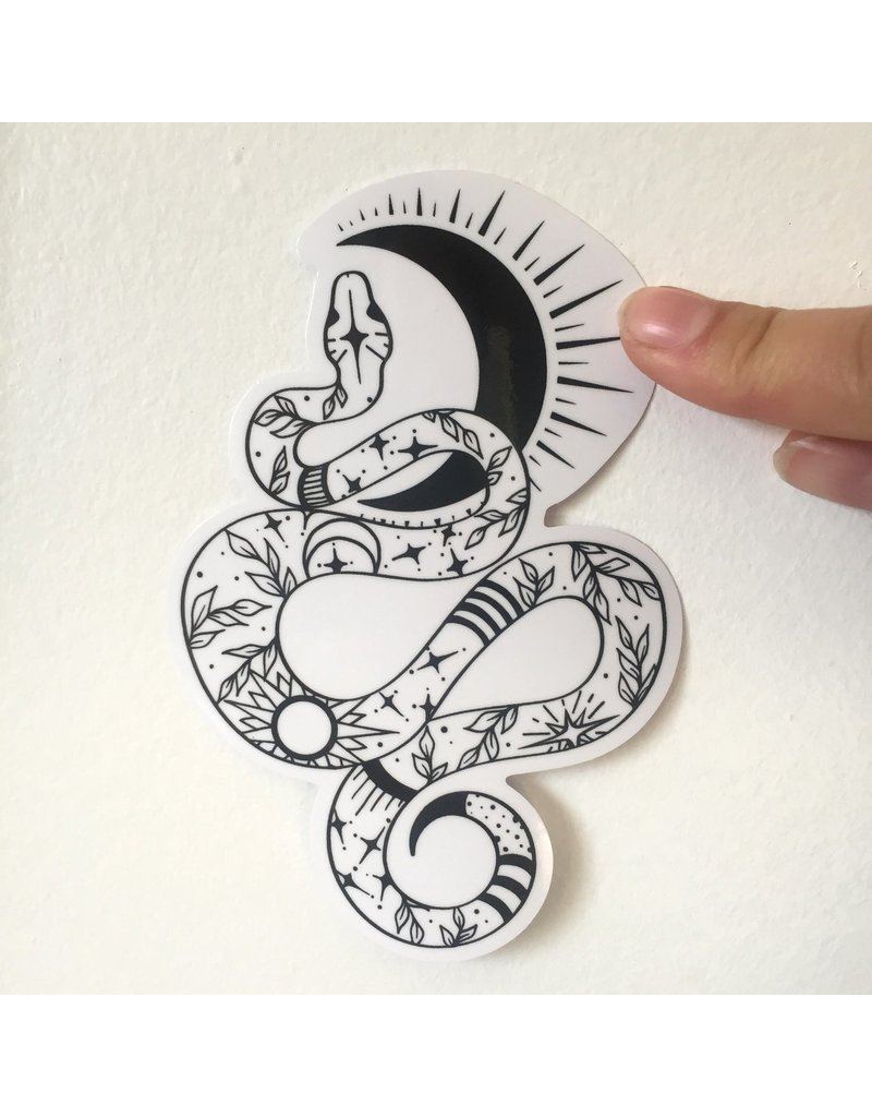 2humans1pooche Snake Sticker