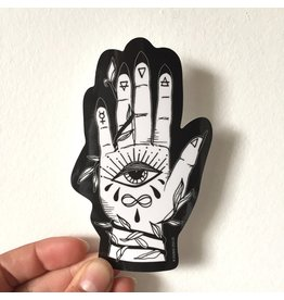 2humans1pooche Palmistry Vinyl Sticker