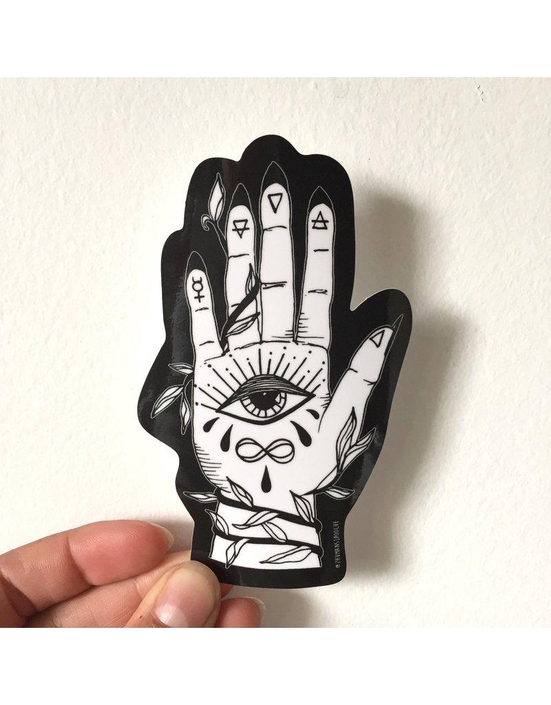 MELI.THELOVER Palmistry Vinyl Sticker