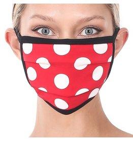 Cultured Coast Red Polka Dot Mask