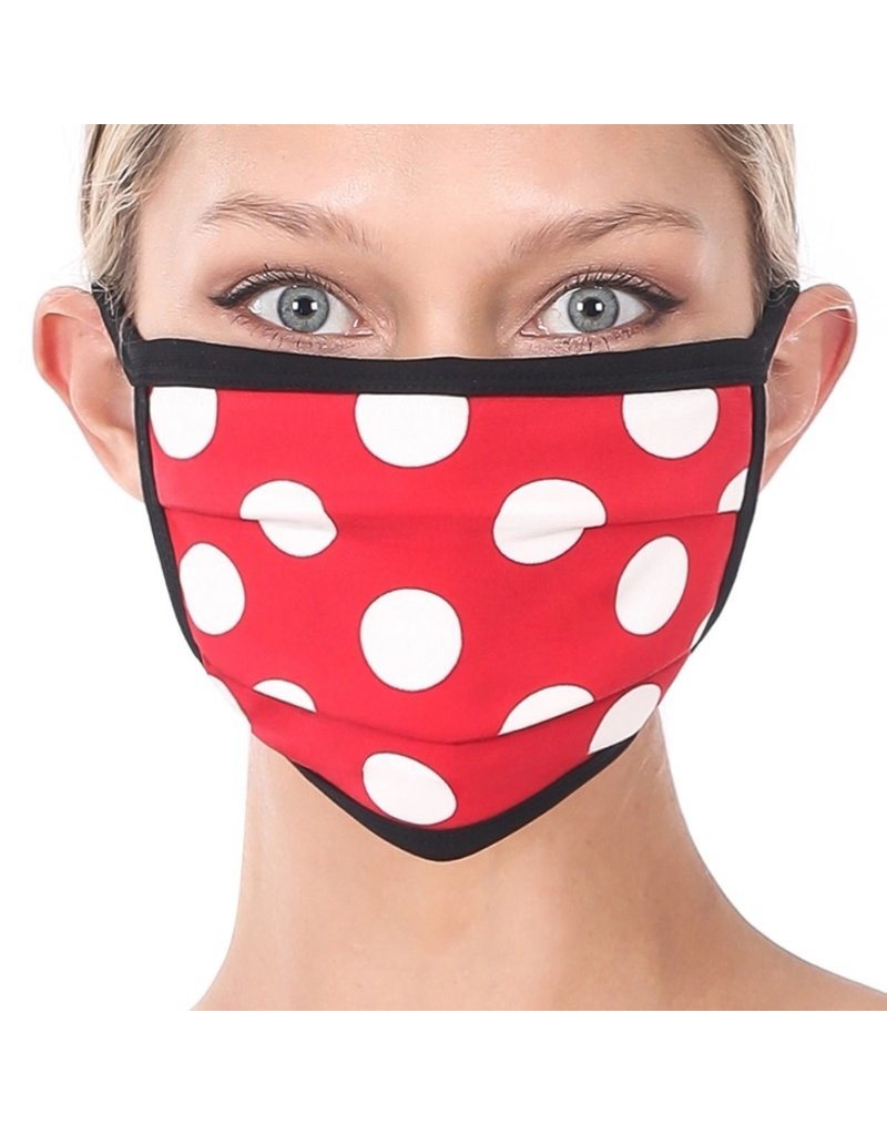 Cultured Coast Red Polka Dot Mask