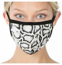 Cultured Coast White Snake Print Mask