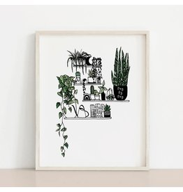2humans1pooche Day by Day Plant Shelf Print