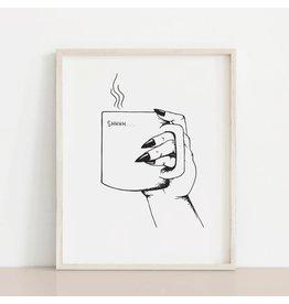 2humans1pooche Shhh Mug Print