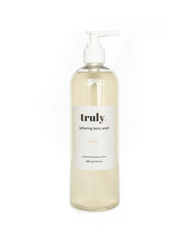 Truly Lifestyle Brand Inc Lathering Body Wash - Lemon 480 ml