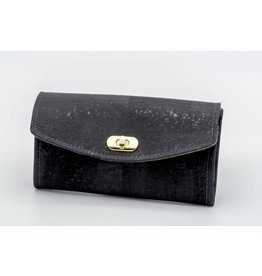 Dyan Made Black Cork Necessary Clutch