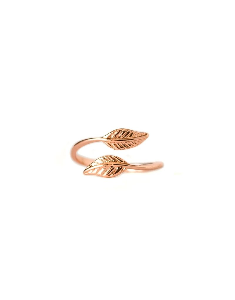 Lace Brick Designs Leaf Ring - Rose Gold