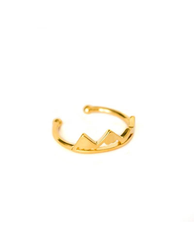 Lace Brick Designs Alpine Ring - Gold