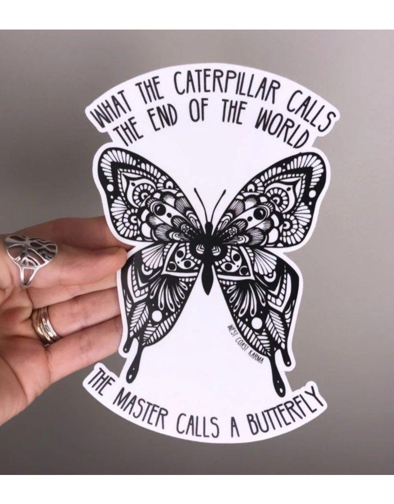 West Coast Karma Transform Yourself Butterfly Sticker
