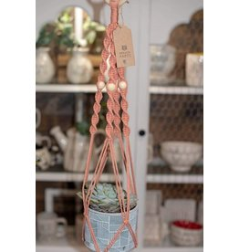 Nordick Knots Twisted Plant Hanger- Blush