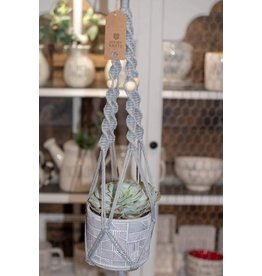 Nordick Knots Grey Twisted Plant Hanger