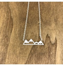 White Fox Collective Mountain Necklace - Silver
