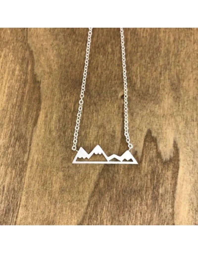 White Fox Collective Mountain Necklace - Silver