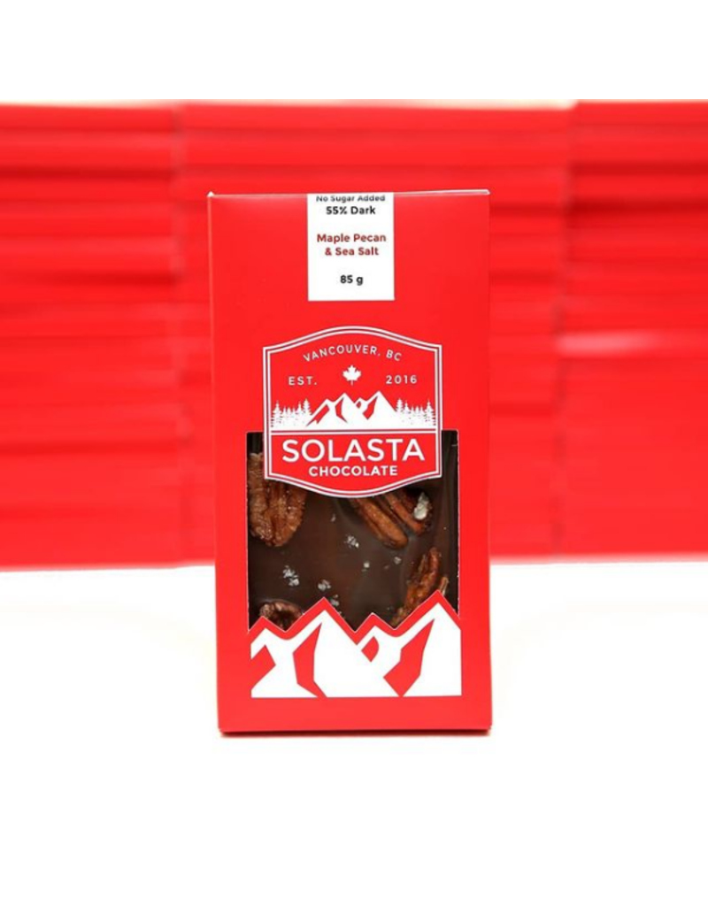 Solasta No Sugar Added Maple Pecan 55% Dark Chocolate