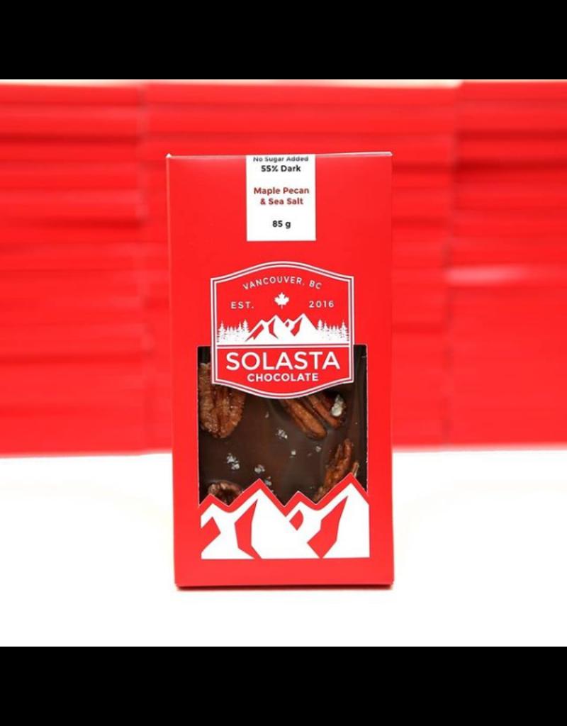 Solasta Sugar Free Maple Pecan 55% Dark Chocolate