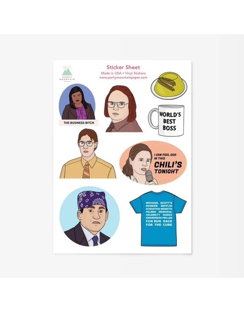 Party Mountain Paper Co Office Sticker Pack