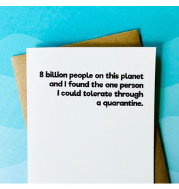 Top Hat and Monocle 8 Billion People Valentine Card