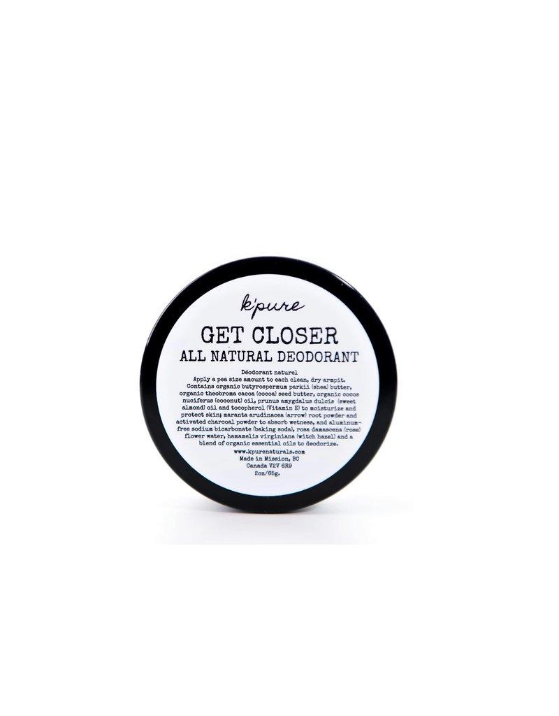 Kpure Get Closer All Natural Deodorant 4oz- Original