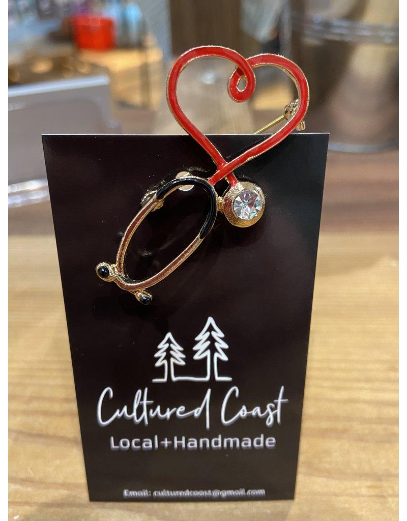 Cultured Coast Stethoscope Pin
