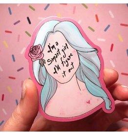 Formula Debs Artwork I'm a Smart Girl Sticker
