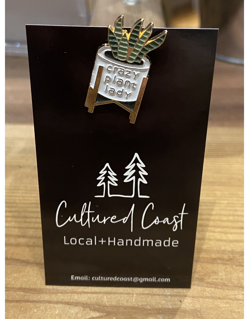 Cultured Coast Crazy Plant Lady Pin