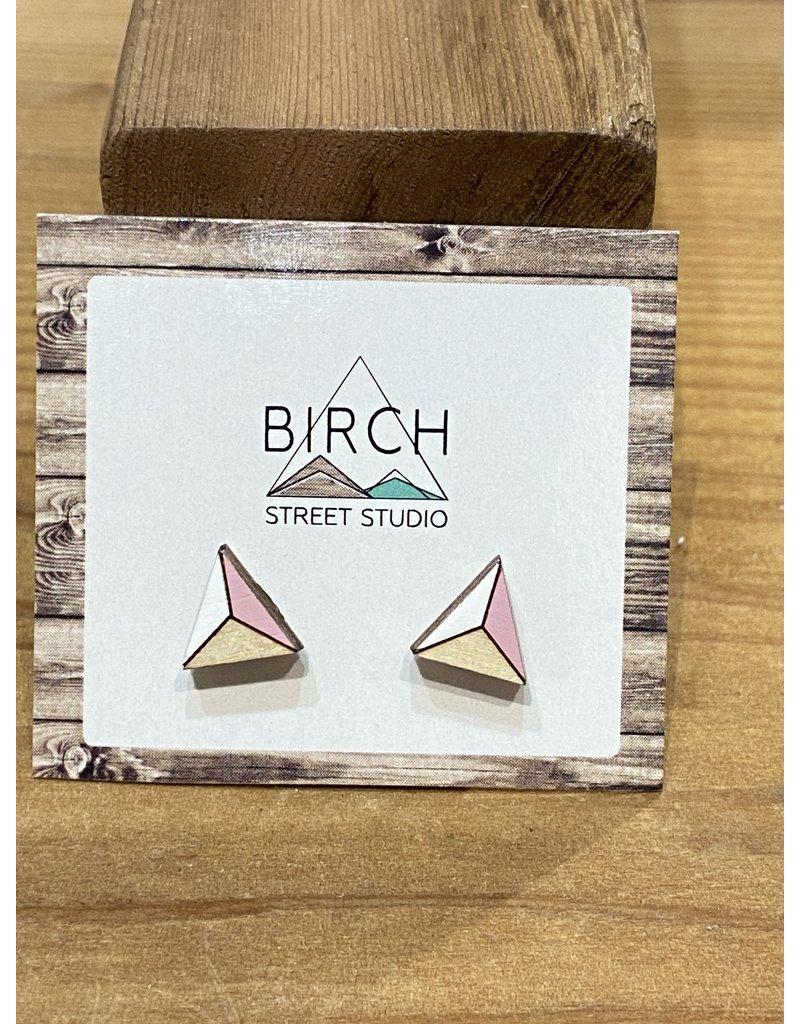 Birch Street Studio Tri Pink/White Earrings