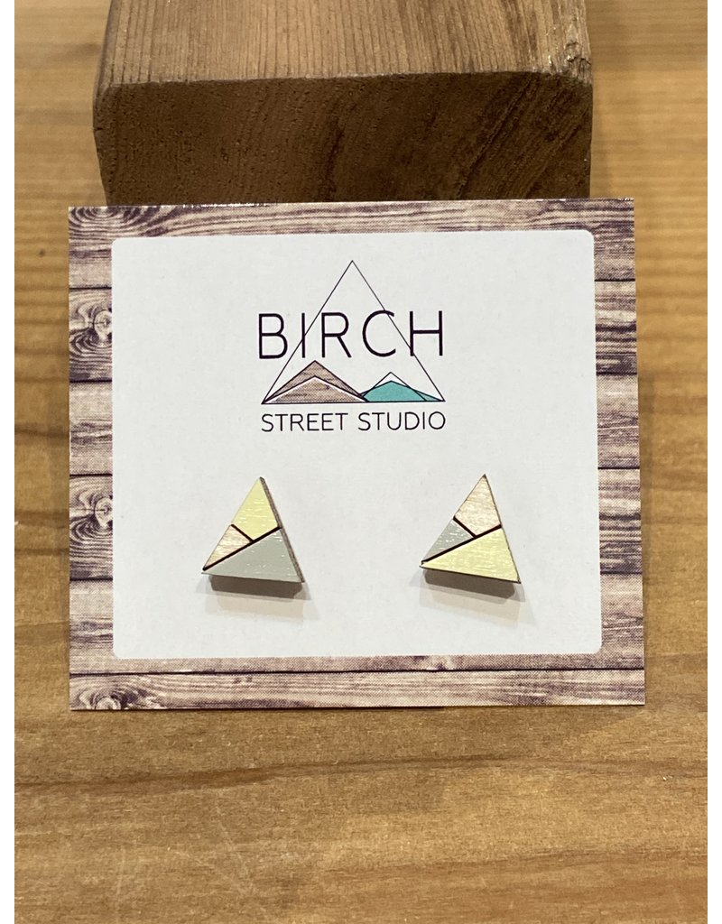 Birch Street Studio Tri Butter Yellow/Grey Earrings