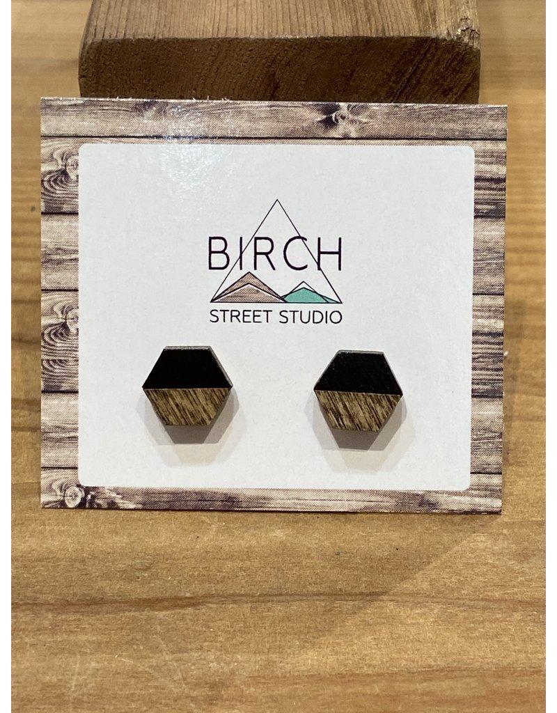 Birch Street Studio Hex Dark/Black Earrings