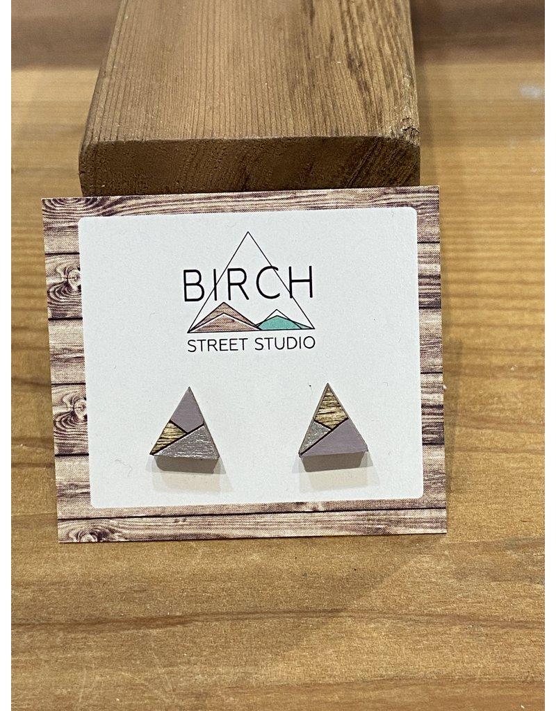 Birch Street Studio Tri Lilac/Silver Earrings