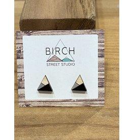 Birch Street Studio Tri Black/Grey Earrings