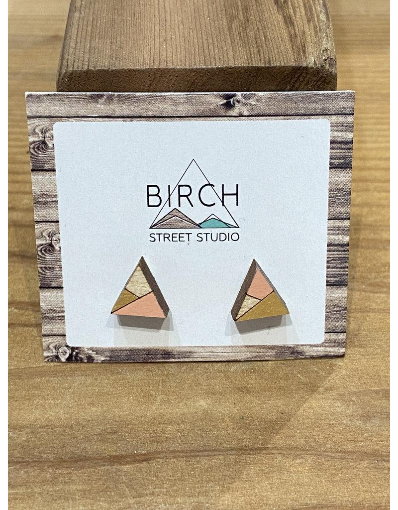 Birch Street Studio Tri Peach/Gold Earrings