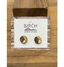 Birch Street Studio Round Mustard/Silver Earrings