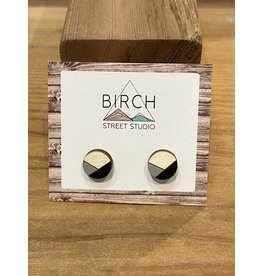 Birch Street Studio Round Grey/Black Earrings
