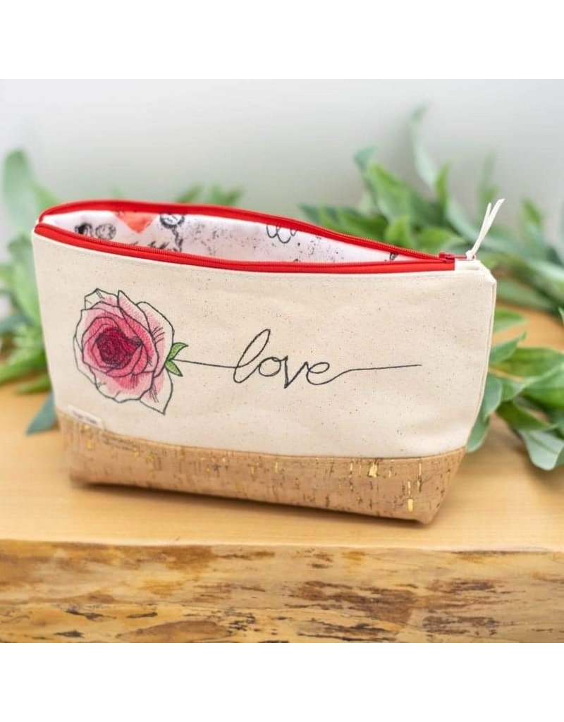 Dyan Made 'Love' Waterproof Cork Bag (Red)