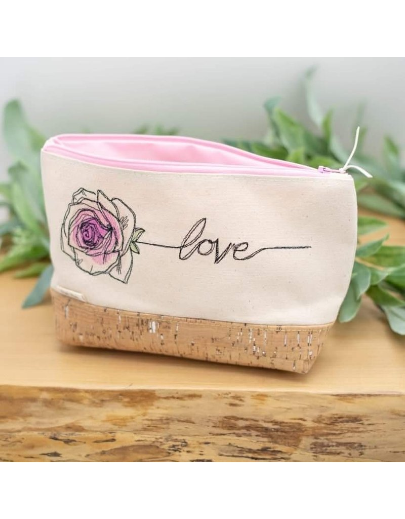 Dyan Made 'Love' Waterproof Cork Bag (Light Pink)