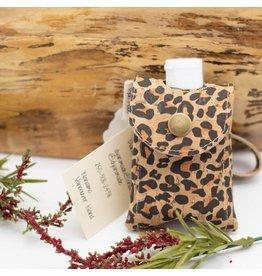 Dyan Made Leopard Print Cork Sanitizer Holder