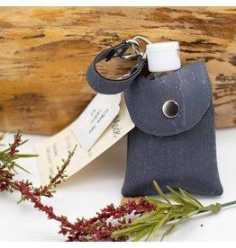Dyan Made Navy Cork Sanitizer Holder