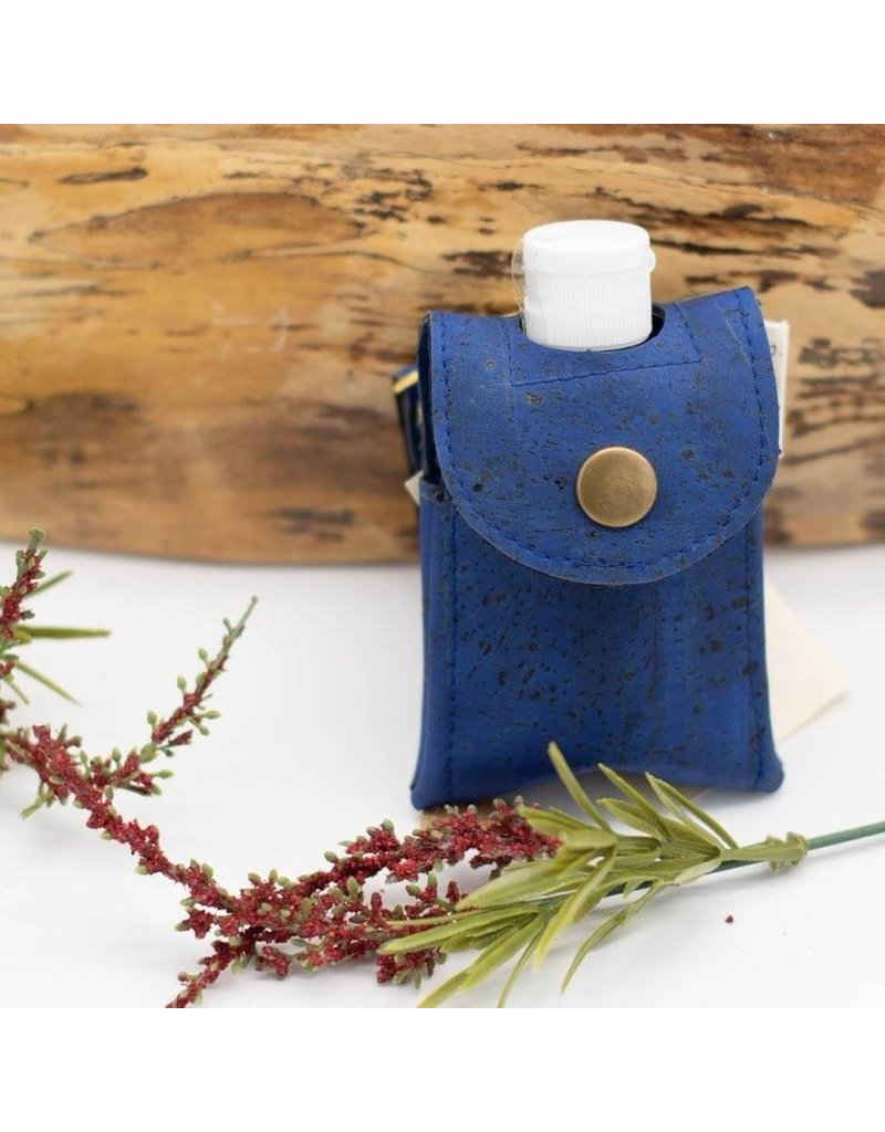 Dyan Made Royal Blue Cork Sanitizer Holder