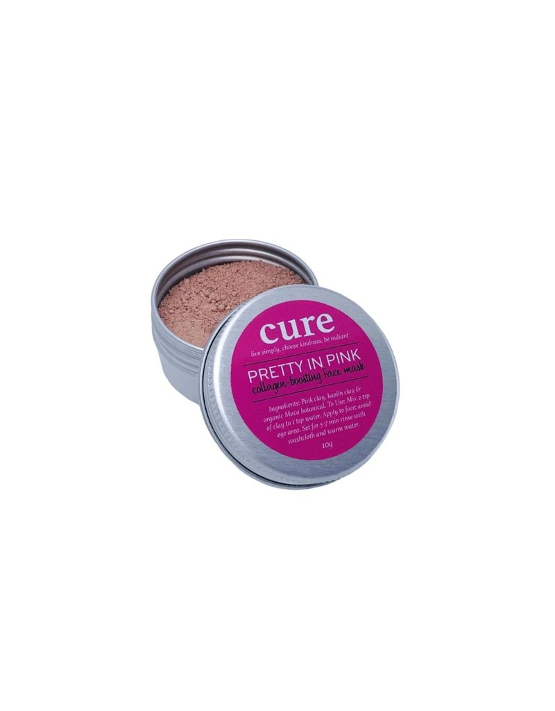 CURE Soaps Pretty in Pink Collagen-Boosting Face Mask 30ml