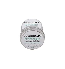 CURE Soaps Soothing Lip Balm- Peppermint 15ml