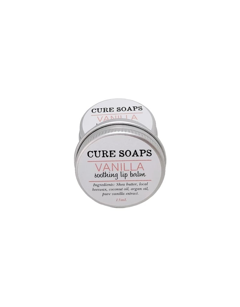 CURE Soaps Soothing Lip Balm-Vanilla 15ml