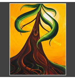 Yvonne Acheson Art Deeply Rooted Greeting Card